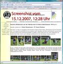 Screenshot der Homepage von Kickers Obertshausen