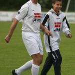 Peter Seitel und Sohn Dennis laufen ein