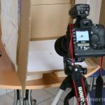 Der Aufbau für die Bilder mit dem Kupplungsring