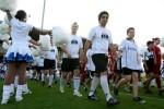 Einlaufen der Mannschaften